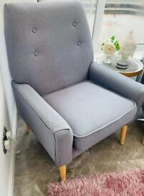 2 Grey Fabric Arm chairs