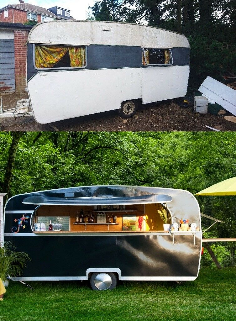 1f0bcb12f3 1960 s Converted Caravan-Mobile Bar Food truck