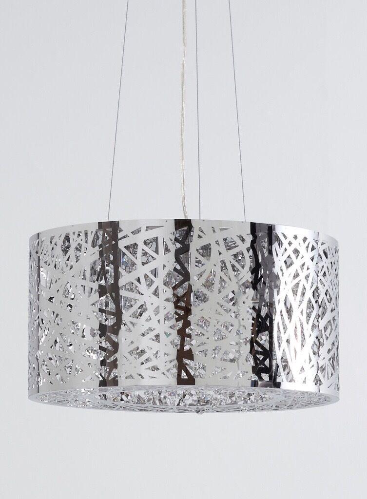 New jena chandelier pendant light chrome bhs rrp 15000 in new jena chandelier pendant light chrome bhs rrp 15000 mozeypictures Choice Image
