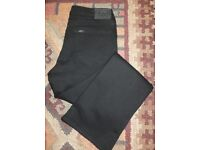 New Ladies Black 'Lee' Cameron High Waisted Bootcut Jeans - W32 L31