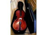 Full size 'cello, bow & hard case