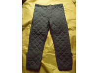 Super grade Vintage - British Army / RAF Cold Weather Quilted Trouser Liners