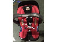 BRITAX ROMER BABY-SAFE PLUS SHR II (GROUP 0+ BIRTH-13KG) CAR SEAT ( with rain cover)