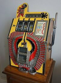 Antique Mills War Eagle one arm machine. Fully restored