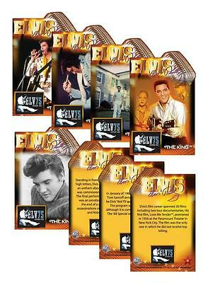 2010 ELVIS PRESLEY 25 Card Complete Set *75th Birthday* Jumbo Die Cut VERY RARE