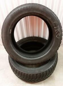 (ZH5) 2 Pneus Hiver - 2 Winter Tires 255-50-19 Bridgestone