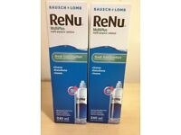 2x Bausch + Lomb ReNu MultiPlus Multi Purpose Contact Lens Solution 480ml