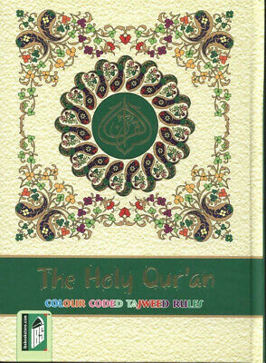 LARGE: Holy Quran Colour Coded Tajweed Rules with Manzils (with Card Case) (IBS)