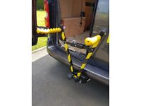 Cycle tow ball carrier rack