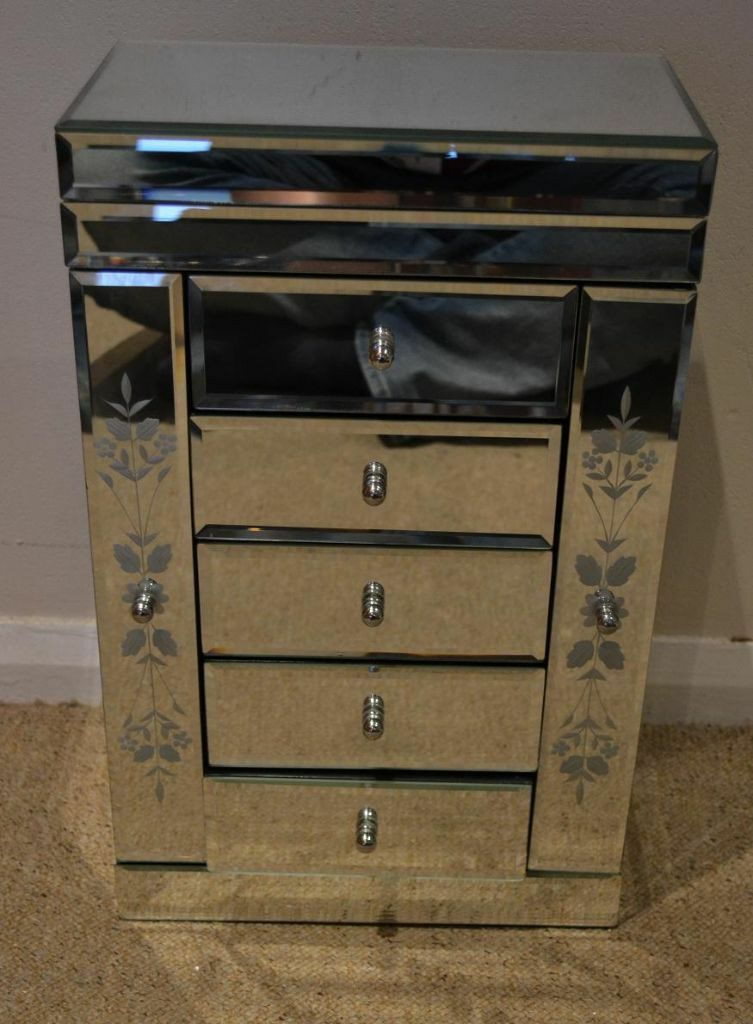 Past Times Vintage Mirrored Armoir Armoire Jewellery Box Chest Great Xmas Present
