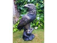 Eagle; cast stone garden ornament