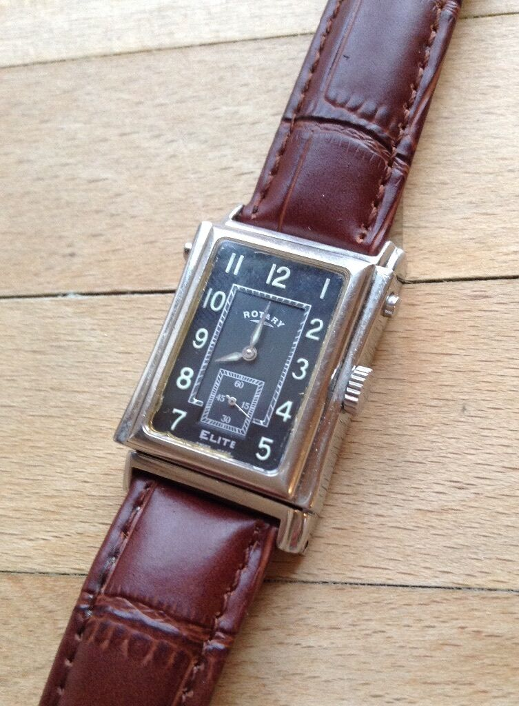 rotary swiss reverso elite watch two dials in tilehurst rotary swiss reverso elite watch two dials