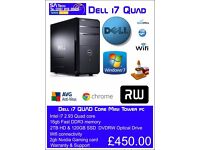 Dell i7 QUAD Core Gaming tower 16gb memory