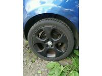 "5x112 17"" Golf GTI Monza Alloys Wheels 17 inch Good Tyres Mk5 Audi A3"