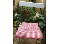 Laura Ashley Home Red Gingham Check Seat Pad/ Cushion