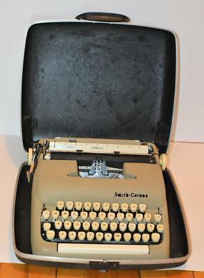 Vtg Década 1960 Smith - Corona de Ley 5A Ser Portátil Máquina de Escribir con /