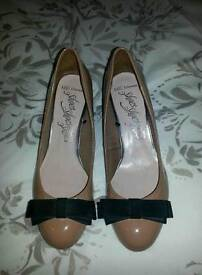 Nude Patent Leather Shoes Size 7.5