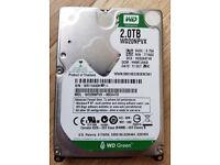 """BARGAIN WD Green 2TB 2.5"""" SATA III 15mm Hard Disk Drive HDD 8MB 2000GB WD20NPVX-00EA4T0"""