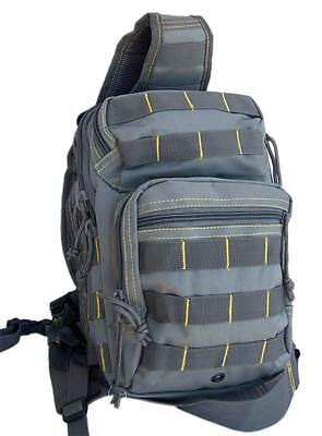 Bolso bandolera viaje gris amarillo mochila hombro 10 litros juvenil militar