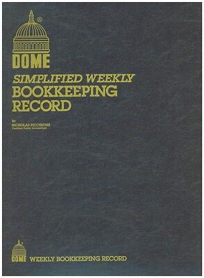 Dome Weekly Bookkeeping Record Book - 600 - 8-12 X 11 - Brown Cover