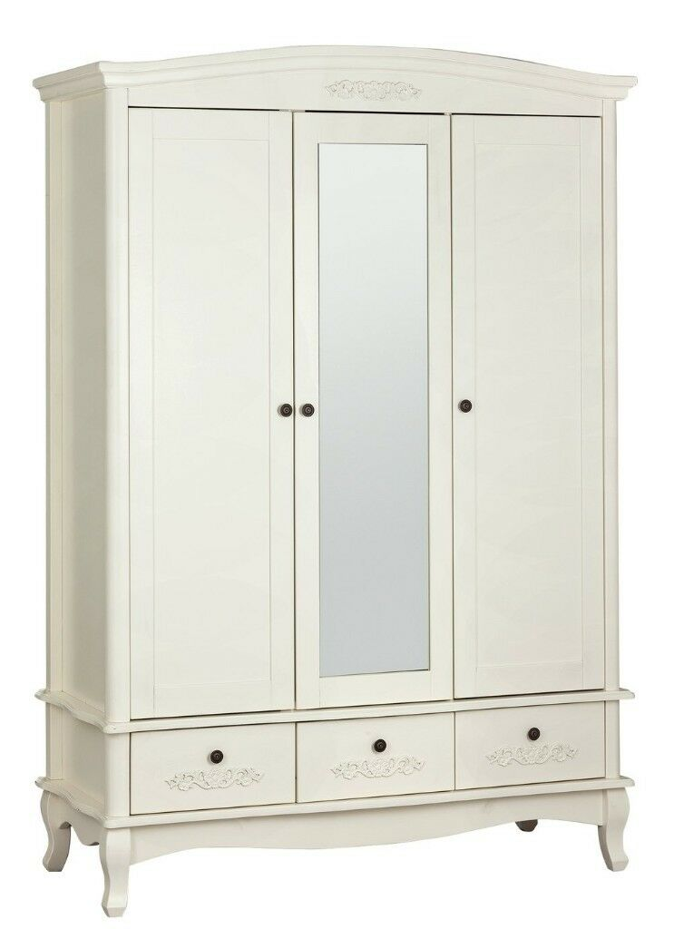 30815a3c060 EX DISPLAY Argos Home Sophia 3 Dr 3 Drawer Mirror Wardrobe - Soft White