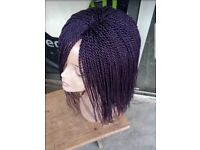 Braids/Twists wigs available in different colours
