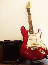 Guitar and practise amp