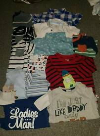 13x boys 3-6month tops