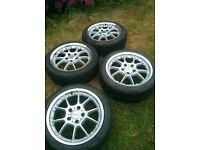 """17"""" 5x120 LENSO BMW BBS RK STYLE ALLOY WHEELS E36 E46 E90 E91 E92 E93 CSL MV1 MV3 MV2"""