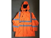 Hydra Matrix Orange Hi Vis/Viz Work/Railway/Waterproof Jacket L/XL