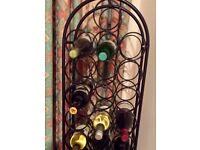 28 bottle wrought iron wine rack