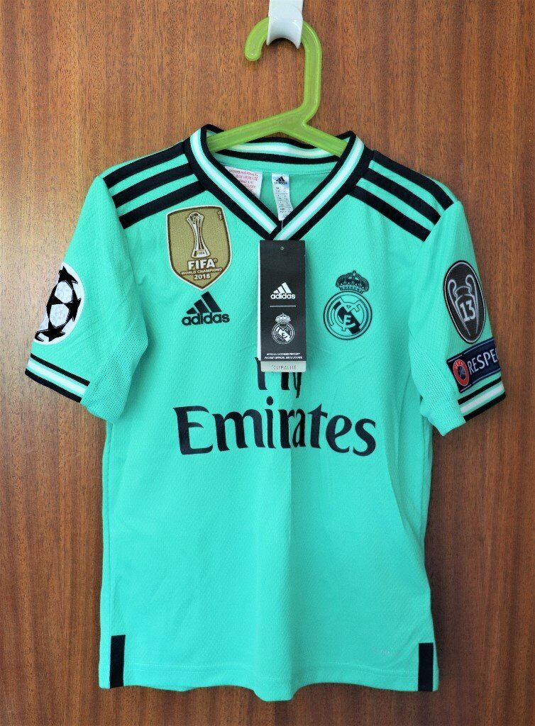 Adidas Real Madrid 3rd Kit Size 7-8 years. Brand new - unworn