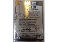 "Western Digital WD 1.0TB wd10jpvx 2.5"" Laptop Hard Drive"