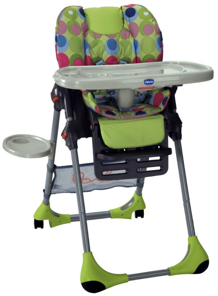 Chicco polly high chair 2 in 1 green mutli coloured for Avis chaise haute polly 2 en 1