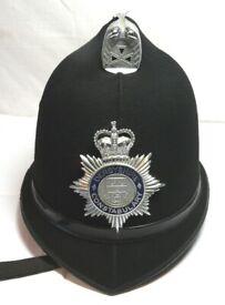 POLICE HELMET, Original, Derbyshire Constabulary, VERY good condition