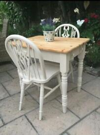 Refurbished pine table and chairs