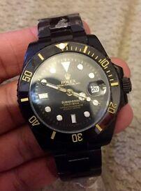 All black rolex submariner watch