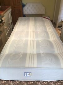 Single Divan with Mattress and Headboard