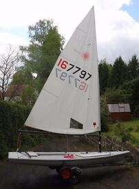 Laser 1 Sailing Dinghy with XD kit and extras – sail number 167797
