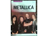 Metallica, In Their Own Words, by Mark Putterford, A4 sized book.