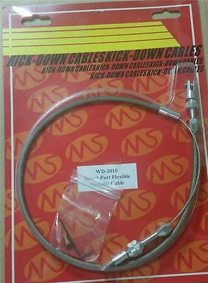 """24"""" Tuned Port Braided Stainless Steel Adjustable Throttle Cable Kit CLOSEOUT"""