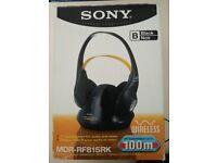 Sony Wireless Headphones model MDR-RF815rk
