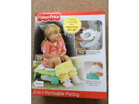 Fisher Price 2in1 portable Potty, unused, perfect for potty training on the go.