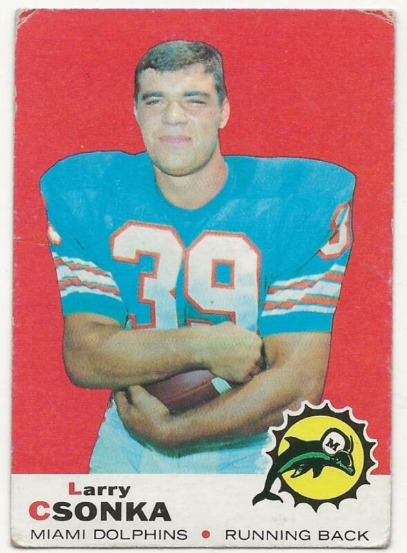 1969 Topps #120 Larry Csonka Rookie Card Graded BCCG 8
