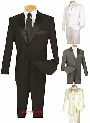 Prom Suit (Men's Formal Tuxedo Prom Wedding Groom Suit Classic Fit Two Buttons Four)