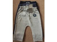 BNWT Next Baby Boy Three Pack Joggers 9 - 12 Months