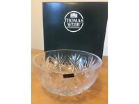 Thomas Webb Glass Bowl in very good condition, with original box