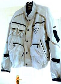 Dainese gents large motorcycle....Jacket and trousers