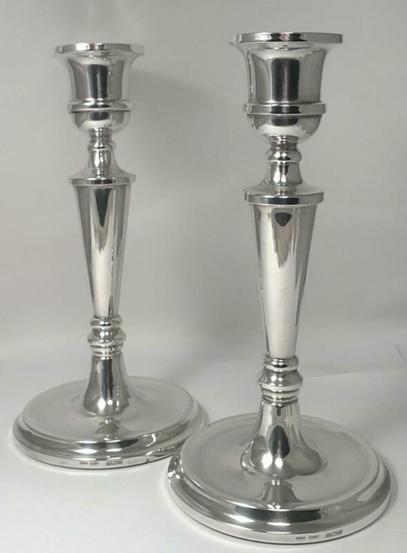 "Pair of Vintage Sterling Silver Candlesticks (7 ¾"") – Hallmarked 1988"