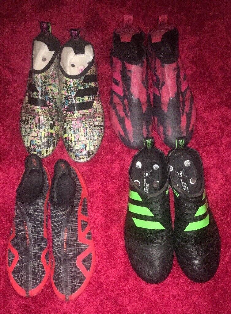 Size 9 Adidas Glitch Football Boots 1 Inner Skin 2 Fg Skins 1